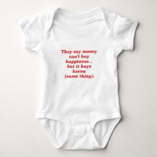 El dinero no da la felicidad rojo negro de Brown Camisas