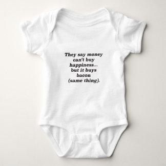 El dinero no da la felicidad rojo negro de Brown Mameluco De Bebé