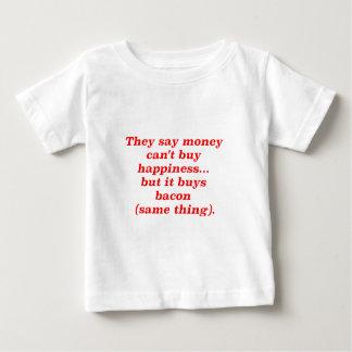 El dinero no da la felicidad rojo negro de Brown Polera