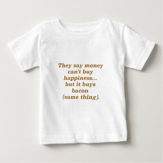 El dinero no da la felicidad rojo negro de Brown Poleras