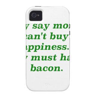 El dinero no da la felicidad rosa del verde amaril vibe iPhone 4 carcasa