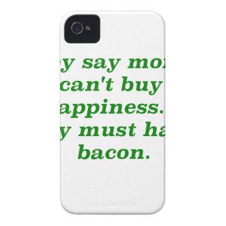 El dinero no da la felicidad rosa del verde amaril iPhone 4 funda