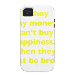 El dinero no da la felicidad rosa del verde amaril vibe iPhone 4 fundas