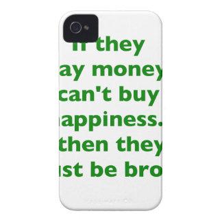 El dinero no da la felicidad rosa del verde amaril iPhone 4 Case-Mate fundas