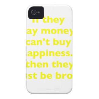 El dinero no da la felicidad rosa del verde amaril Case-Mate iPhone 4 cárcasa