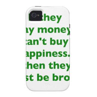 El dinero no da la felicidad rosa del verde amaril iPhone 4/4S funda
