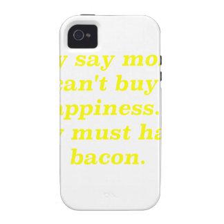 El dinero no da la felicidad rosa del verde amaril vibe iPhone 4 carcasas
