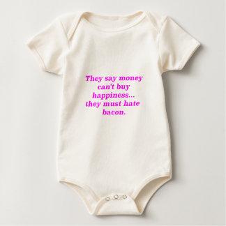 El dinero no da la felicidad rosa del verde mameluco de bebé