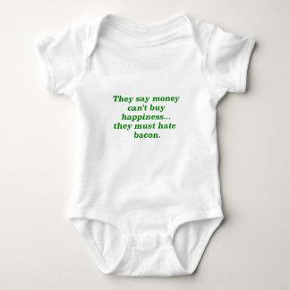 El dinero no da la felicidad rosa del verde polera