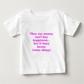 El dinero no da la felicidad rosa del verde remera