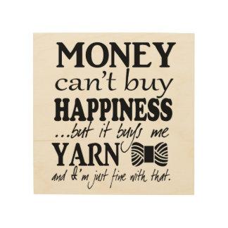 El dinero no da la felicidad - sitio del arte del impresiones en madera