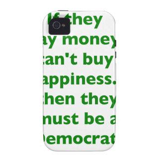 El dinero no da la felicidad verde amarillo PK de  iPhone 4 Fundas