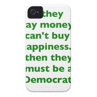 El dinero no da la felicidad verde amarillo PK de iPhone 4 Case-Mate Cárcasas