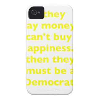 El dinero no da la felicidad verde amarillo PK de  iPhone 4 Funda