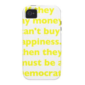 El dinero no da la felicidad verde amarillo PK de  iPhone 4/4S Carcasa