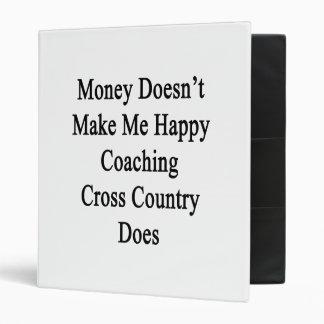 El dinero no me hace el campo a través que entrena carpeta 2,5 cm