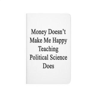 El dinero no me hace la enseñanza feliz Sci Cuaderno