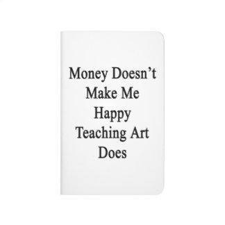 El dinero no me hace que el arte de enseñanza cuadernos