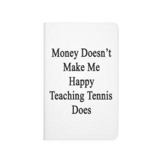 El dinero no me hace que el tenis de enseñanza cuadernos grapados
