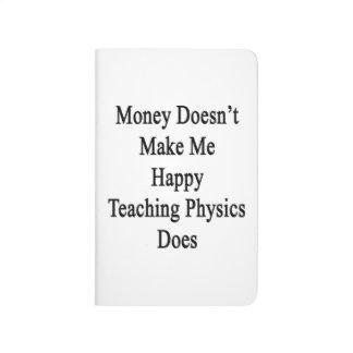 El dinero no me hace que la física de enseñanza cuaderno grapado