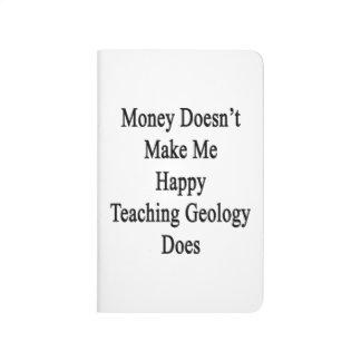 El dinero no me hace que la geología de enseñanza cuaderno