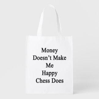 El dinero no me hace que lo hace el ajedrez feliz bolsa de la compra