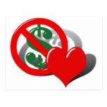 El dinero no puede comprar mi amor postal