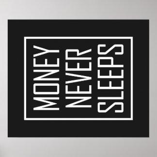 El dinero nunca duerme póster