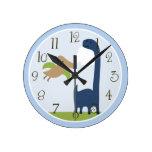 El dinosaurio adorable personalizado embroma el re reloj