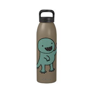 El dinosaurio ama los anillos de espuma botella de agua