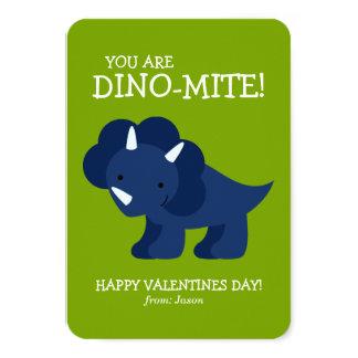 El dinosaurio azul embroma a tarjetas del día de invitación 8,9 x 12,7 cm