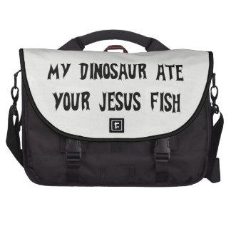 El dinosaurio come los pescados de Jesús Bolsas De Portátil