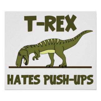 El dinosaurio de Rex del Tyrannosaurus odia pector Póster