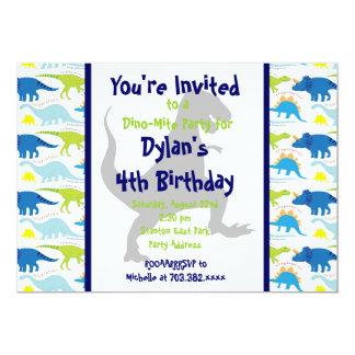 El dinosaurio de T Rex embroma las invitaciones Invitación 12,7 X 17,8 Cm