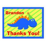 El dinosaurio del cumpleaños le agradece postal