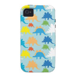 El dinosaurio diseña dinosaurios azules del rojo d vibe iPhone 4 carcasa