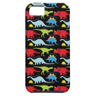 El dinosaurio diseña verde del rojo azul en negro iPhone 5 Case-Mate carcasas