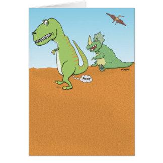 El dinosaurio divertido viejo Fart cumpleaños Tarjeta De Felicitación