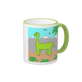 El dinosaurio feliz taza a dos colores