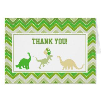 El dinosaurio le agradece las tarjetas de nota