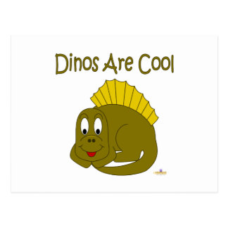 El dinosaurio lindo Dinos del amarillo del bebé es Tarjeta Postal