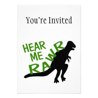 El dinosaurio me oye Rawr Anuncios Personalizados
