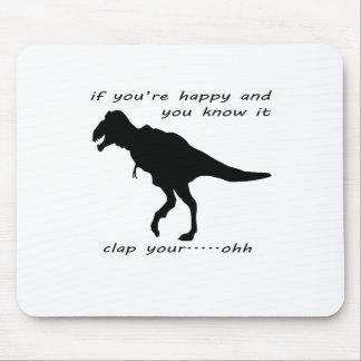 El dinosaurio no puede aplaudir la camiseta .png d alfombrilla de raton