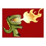 El dinosaurio o el dragón embroma arte con Loston Invitación 8,9 X 12,7 Cm