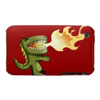 El dinosaurio o el dragón embroma arte con Loston iPhone 3 Case-Mate Fundas