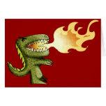 El dinosaurio o el dragón embroma arte con Loston Tarjeta De Felicitación