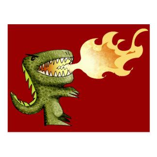 El dinosaurio o el dragón embroma arte con Loston  Tarjetas Postales