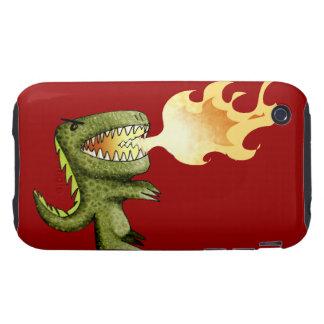 El dinosaurio o el dragón embroma arte con Loston Tough iPhone 3 Coberturas