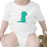 El dinosaurio Onesy del bebé Trajes De Bebé