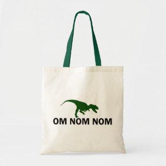 El dinosaurio Rawr de OM Nom Nom tiene hambre Bolsa De Mano
